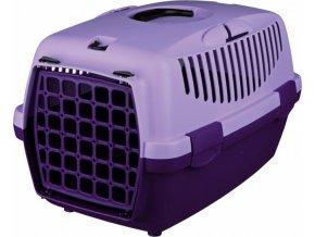 Transportní box CAPRI II 37x34x55cm max.do 8kg - tmavě fialová/