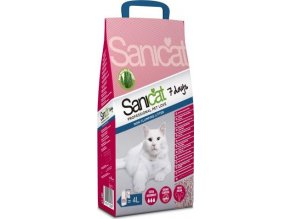 SANICAT Prof. 7 DAYS - kočkolit s vůní ALOE VERA 4 L/2,7 kg