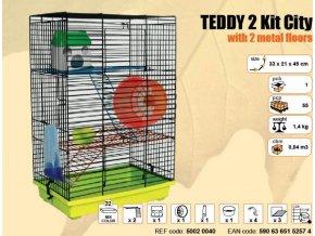 Klec TEDDY II. Kit City s plastovou výbavou 320x220x490mm