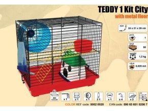 Klec TEDDY I. KIT CITY s výbavou 320x220x290mm