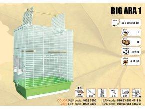 Klec BIG ARA I. chrom 520x320x650mm