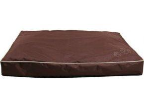 Obdelníkový polštář DRAGO s packou 70 x 45 cm hnědý