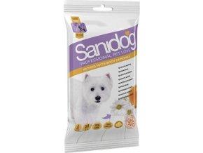 SANIDOG čistící rukavice [4ks] s heřmánkem Camomile pro psy