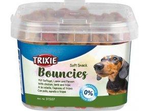 Soft Snack BOUNCIES mini kostičky kuřecí,jehněčí,dršťky 140g