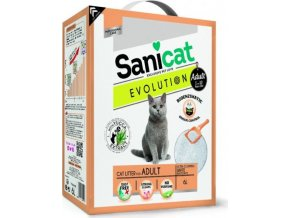 Sanicat EVOLUTION Adult bílý, jemný, hrudkující 6 L/5,1 kg