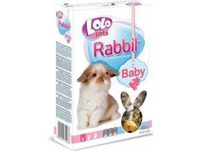 LOLO BABY kompl. krmivo pro králíky do 3 měs. 400g krabička
