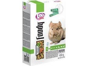LOLO BASIC kompletní krmivo pro činčily 450 g krabička