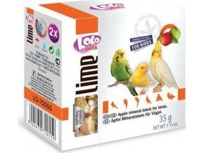 LOLOpets LIME jablečný minerální kámen pro ptáky 40 g