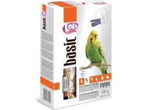 LOLO BASIC kompletní krmivo pro andulky 500 g krabička