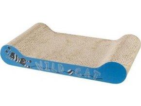 WILD CAT škrábací karton 41x7x24 cm oranžový