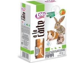 LOLO a la carte mrkvové vločky pro hlodavce 40 g