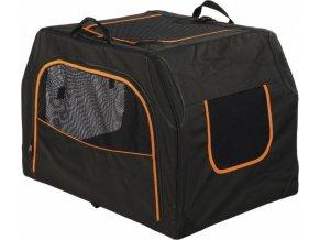 Transportní nylonový box Extend S-M 68x47x48cm černo/oranž.