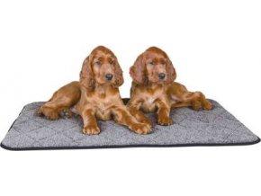 Vyhřívací podložka vzhled beránčí kůže 80 x 60 cm šedá