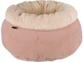 Kulatý pelíšek ELSIE plyšový 45 cm béžový