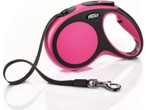 Flexi New Comfort M pásek 5 m, max. 25 kg - růžová