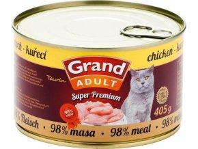 GRAND konz.  Superpremium kočka kuřecí 405g