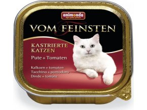 Animonda paštika pro Kastráty - krůta/rajča kočka 100g