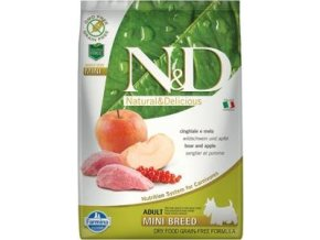 N&D GF DOG Adult Mini Boar & Apple 7kg