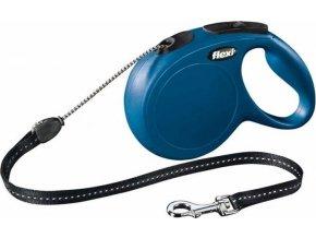 Flexi New Classic M šňůra 8 m, max. 20kg - modrá