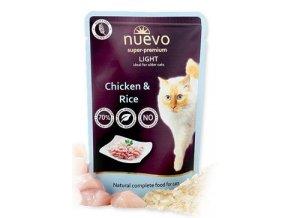 Nuevo kočka kapsa light kuřecí s rýží 85g