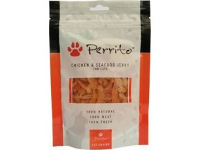Perrito Chicken&Seafood jerky pro kočky 100g