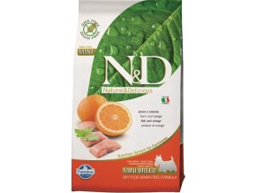 N&D Grain Free Dog Adult Mini Fish & Orange 2,5 kg