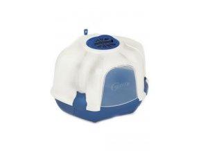 WC kočka Mega Corner 52 x 59,5 x 44,5 cm bílo-modrá