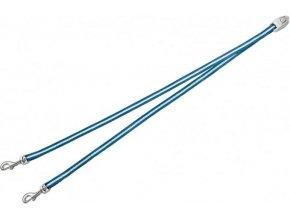 Vario DUO Belt S - nylonová rozdvojka pro dva psy - modrá