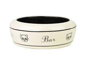 Miska keramická kočka Bar bílá 13cm 0,3l Zolux