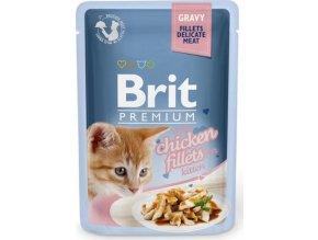 Brit Premium Cat D Fillets in Gravy for Kitten 85g