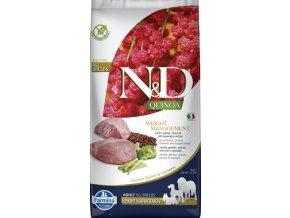 N&D GF Quinoa DOG Weight Mngmnt Lamb & Broccoli 7kg