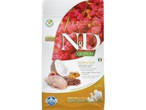 N&D GF Quinoa DOG Skin&Coat Quail & Coconut 800g