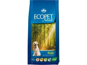 Ecopet Natural Adult Fish Mini 12kg+2kg ZDARMA