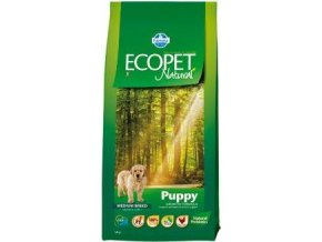 Ecopet Natural Puppy Mini 12kg+2kg ZDARMA
