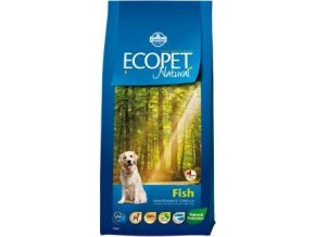 Ecopet Natural Adult Fish Maxi 12kg+2kg ZDARMA
