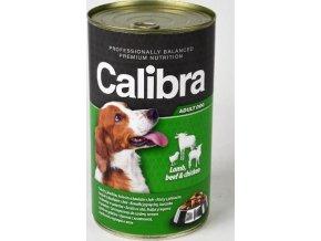 Calibra Dog konz.-jehněčí + hovězí + kuřecí v želé 1240 g