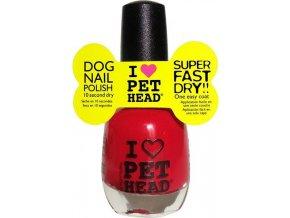 Pet Head lak na nehty/drápky - červený/red 14,7 ml