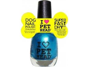 Pet Head lak na nehty/drápky - tm.modrozelený/teal 14,7 ml