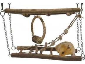 Hračka hlod. dřevo Prolézačka závěsná RW 27 x 8 x 29 cm