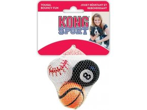 Hračka tenis SPORT Míč malý mix Kong 3 ks, small