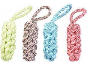 Hračka lano Kolík uzel s poutkem DUVO+ 30,5 cm