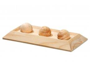 Hračka hlod. dřevo interaktivní - kuličky, Karlie 30 x 15 cm