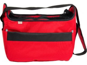 Transp. taška nylon Betty červená 40 cm - do 7,5 kg