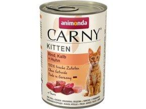 ANIMONDA konzerva CARNY Kitten - hovězí, telecí+ kuřecí 400g