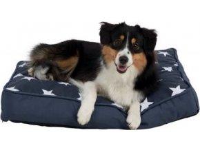 Obdelníkový polštář STARS 110 x 80 tmavě modrý s hvězdami