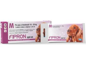Fipron 134mg spot-on M a.u.v. sol 1x1,34 ml (pipety)