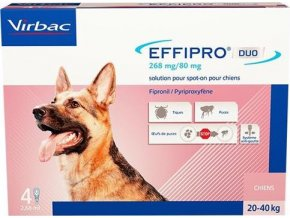 Effipro DUO Dog L (20-40kg) 268/80 mg, 4x2,68ml