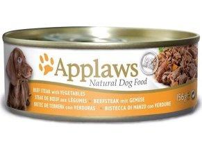 Applaws Dog konz. hovězí steak se zeleninou 156 g