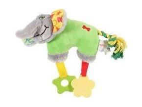Hračka pes ELEPHANT COLOR plyš zelená 20cm Zolux