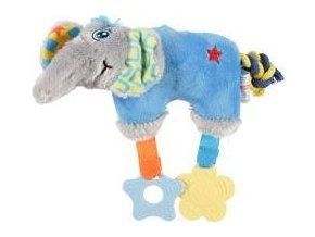 Hračka pes ELEPHANT COLOR plyš modrá 20cm Zolux